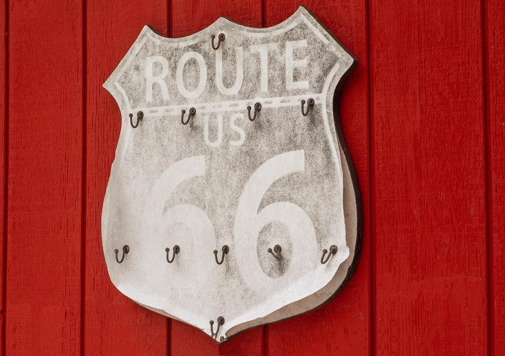 Route US 66 hook rack