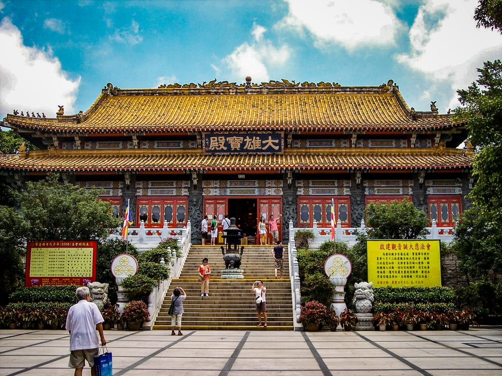 Chinese temple with stair