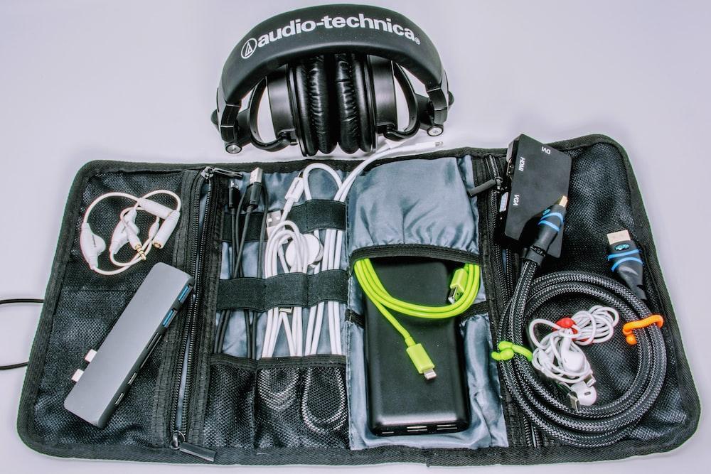 black Audio-Technica headphones