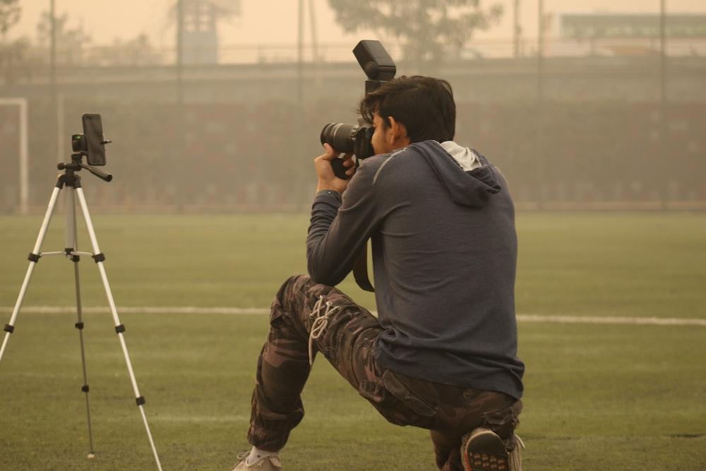 man taking photo