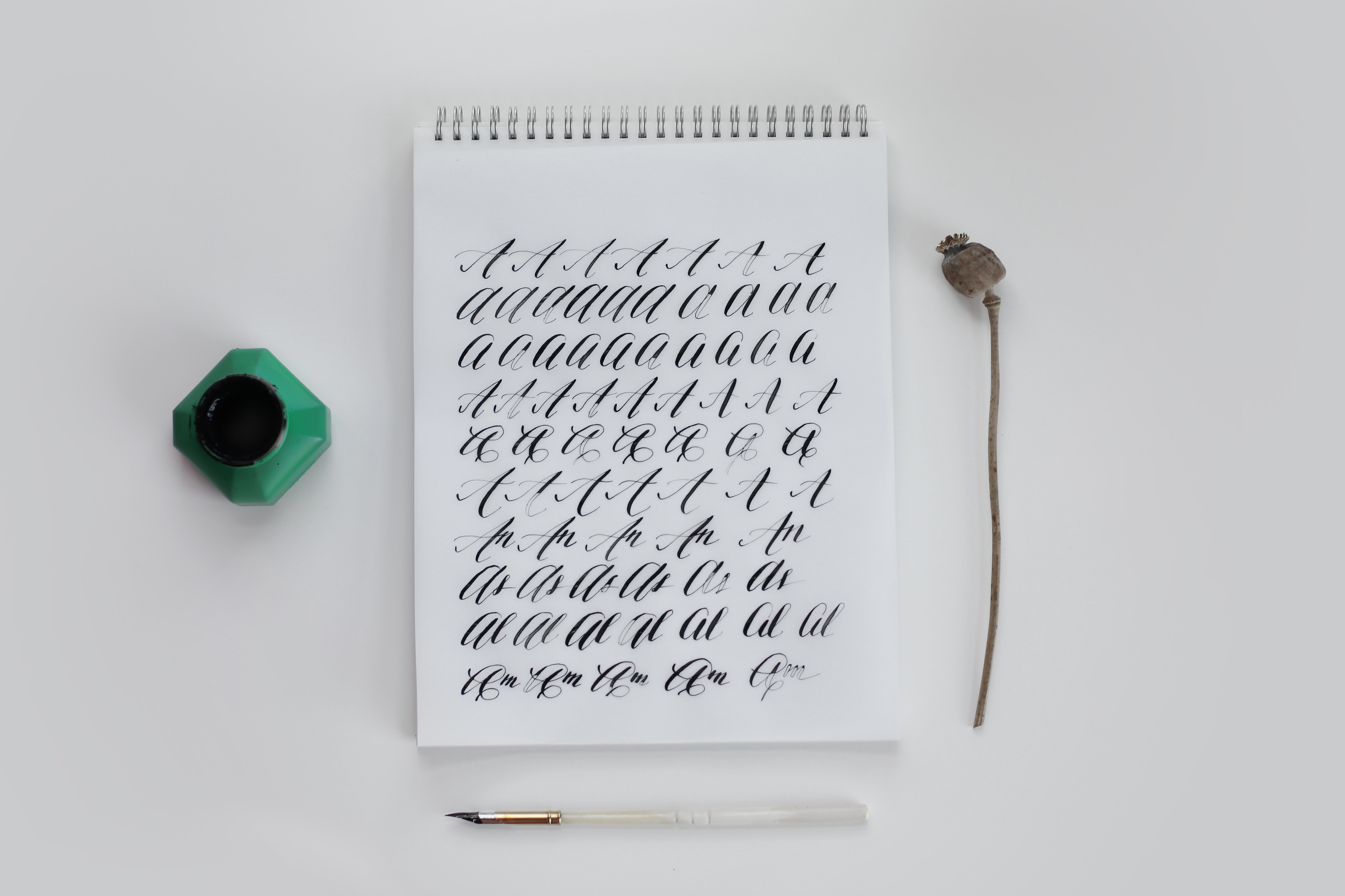 white notebook with text