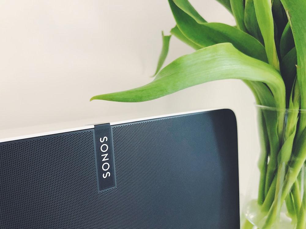 black Sonos speaker