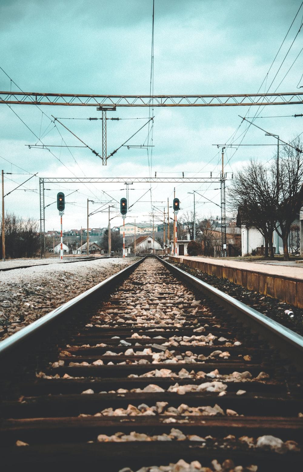 brown and black railway
