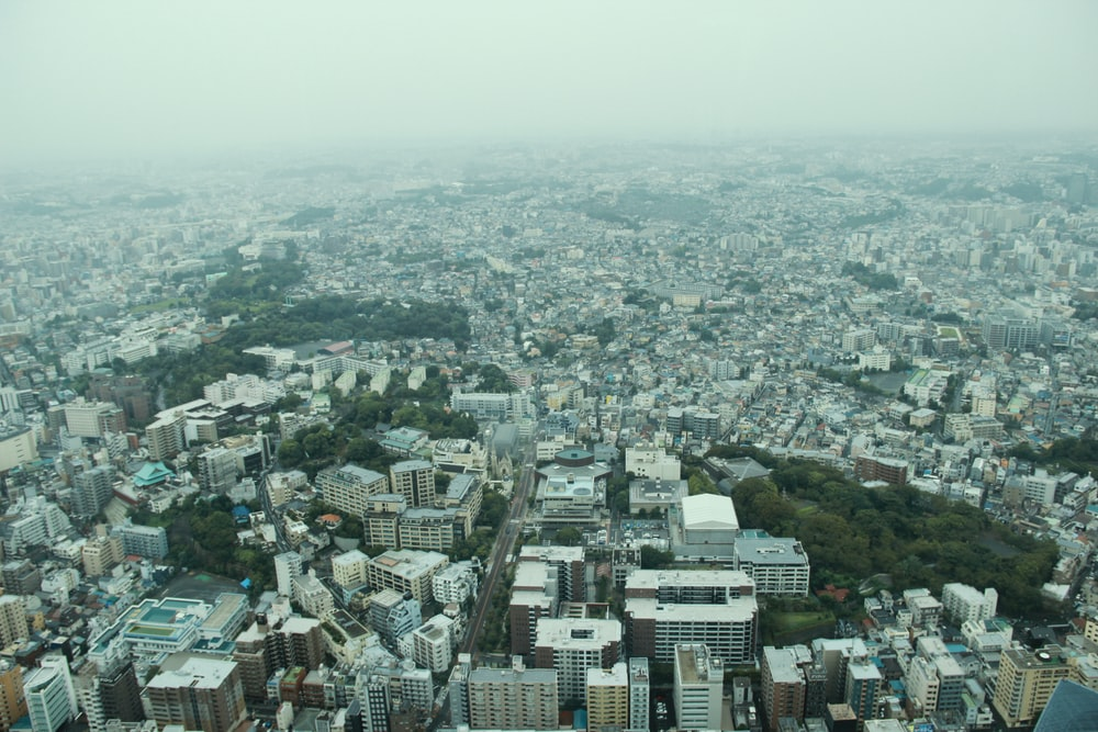 aerial photo of city