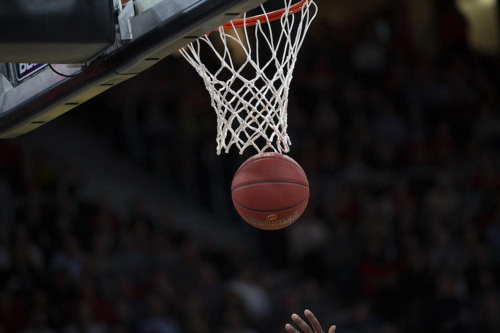 basketball shoot on the basket