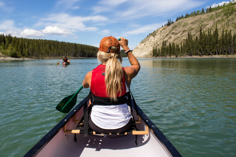person boating on lake