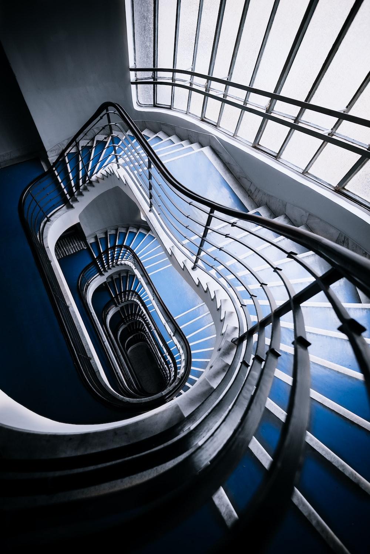 empty spiral stairs