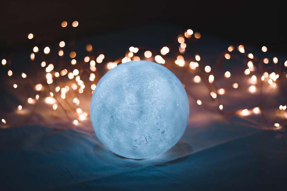 round white crystal ball