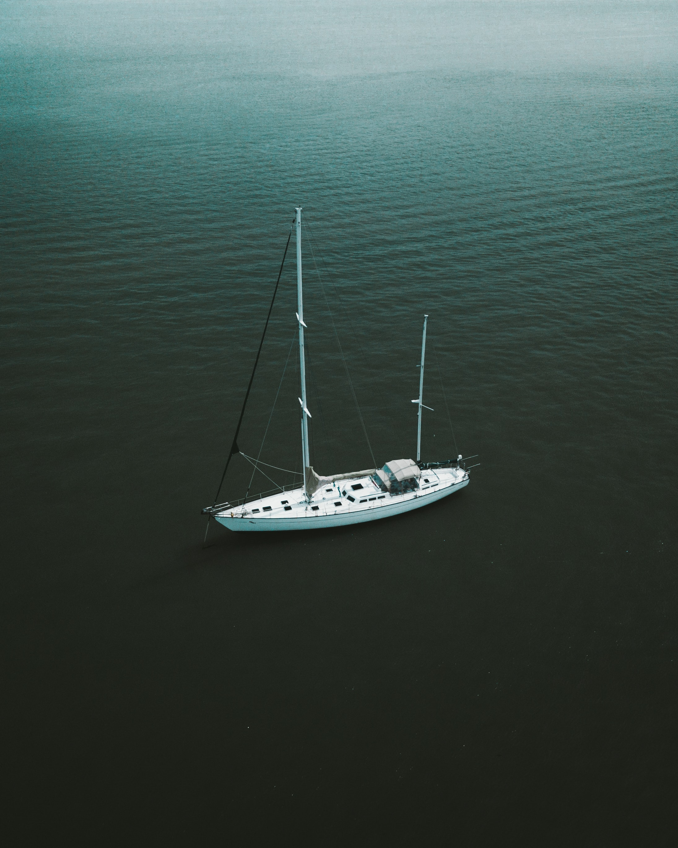 aerial photo of ship on body of water