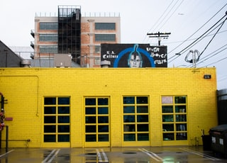 yellow-painted building