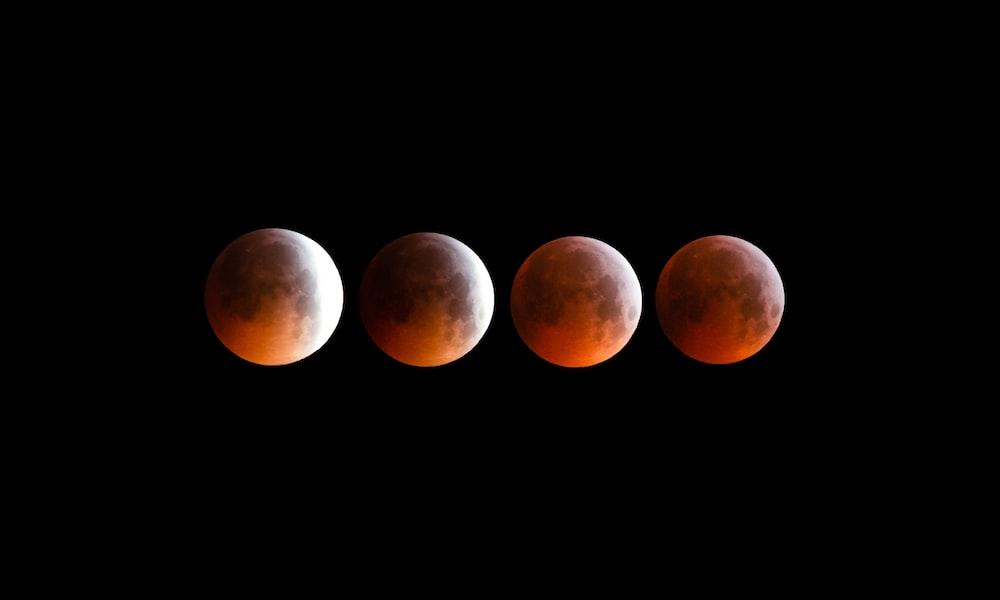 four red full moons