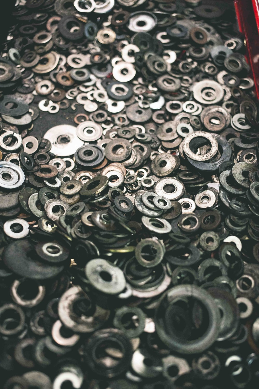 gray metal eyelet lot