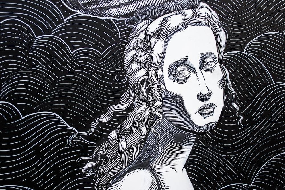 woman illustration painting