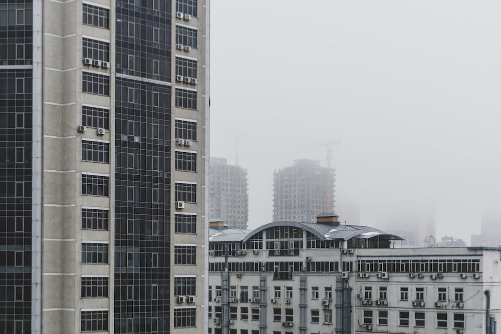 white concrete highrise building