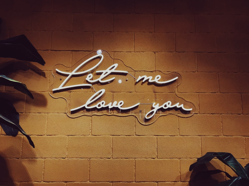Let me love you wall art