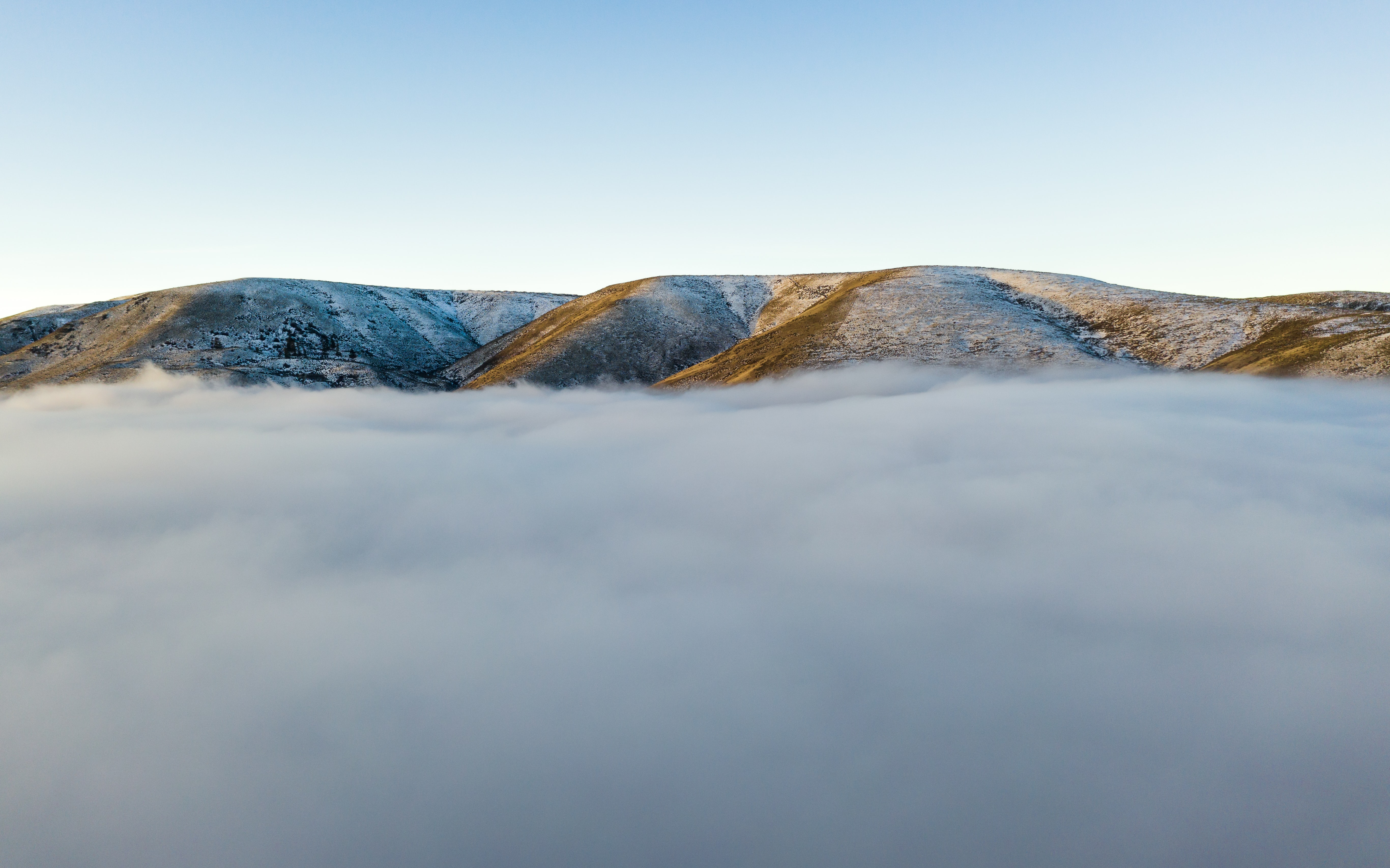 mountain over the clouds