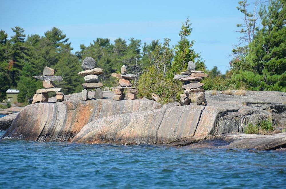 cairn on boulder
