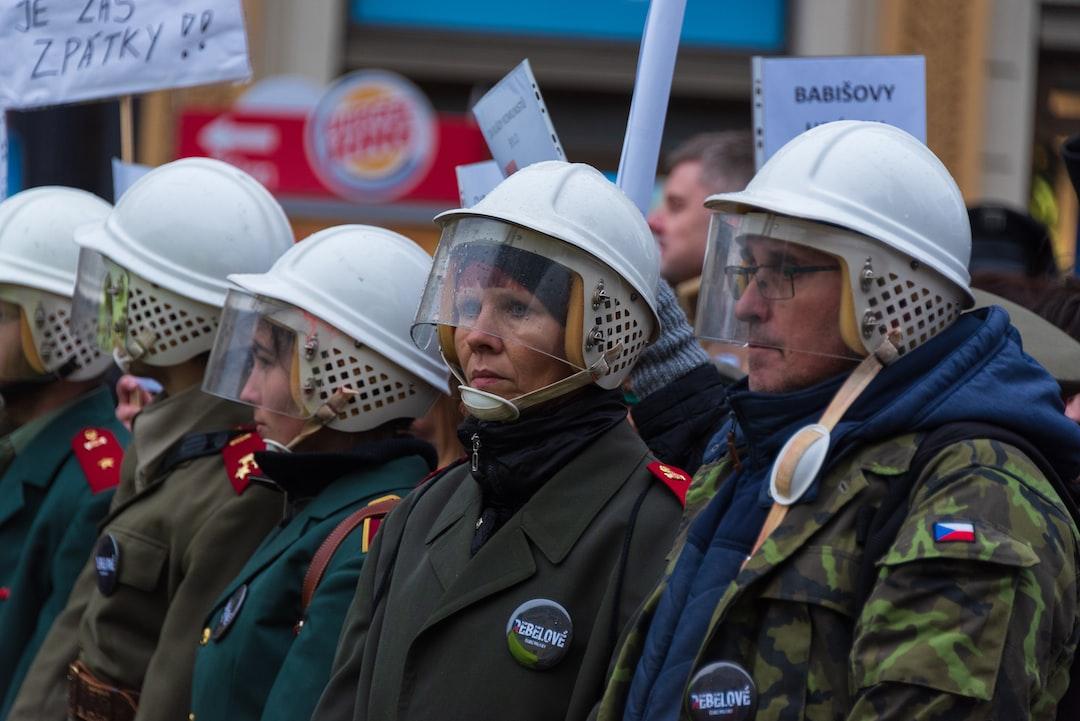 Protesters in Prague, Czech Republic