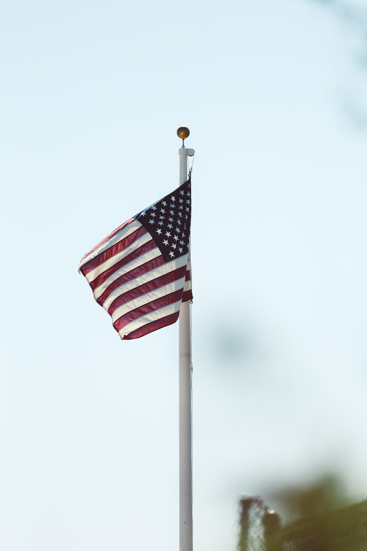 close up photo of U.S.A flag