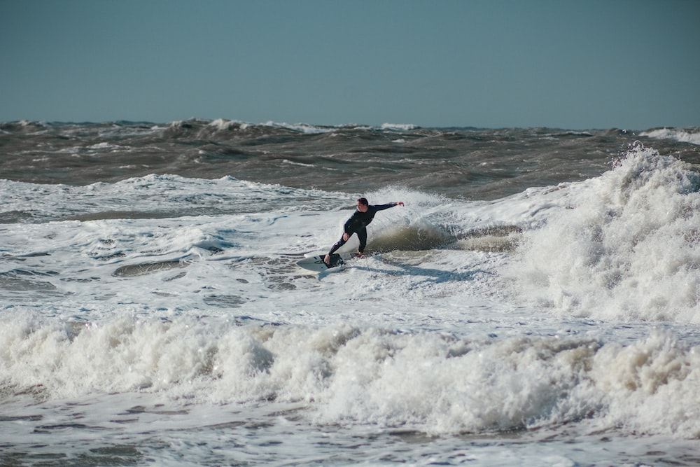 person surfing with waves