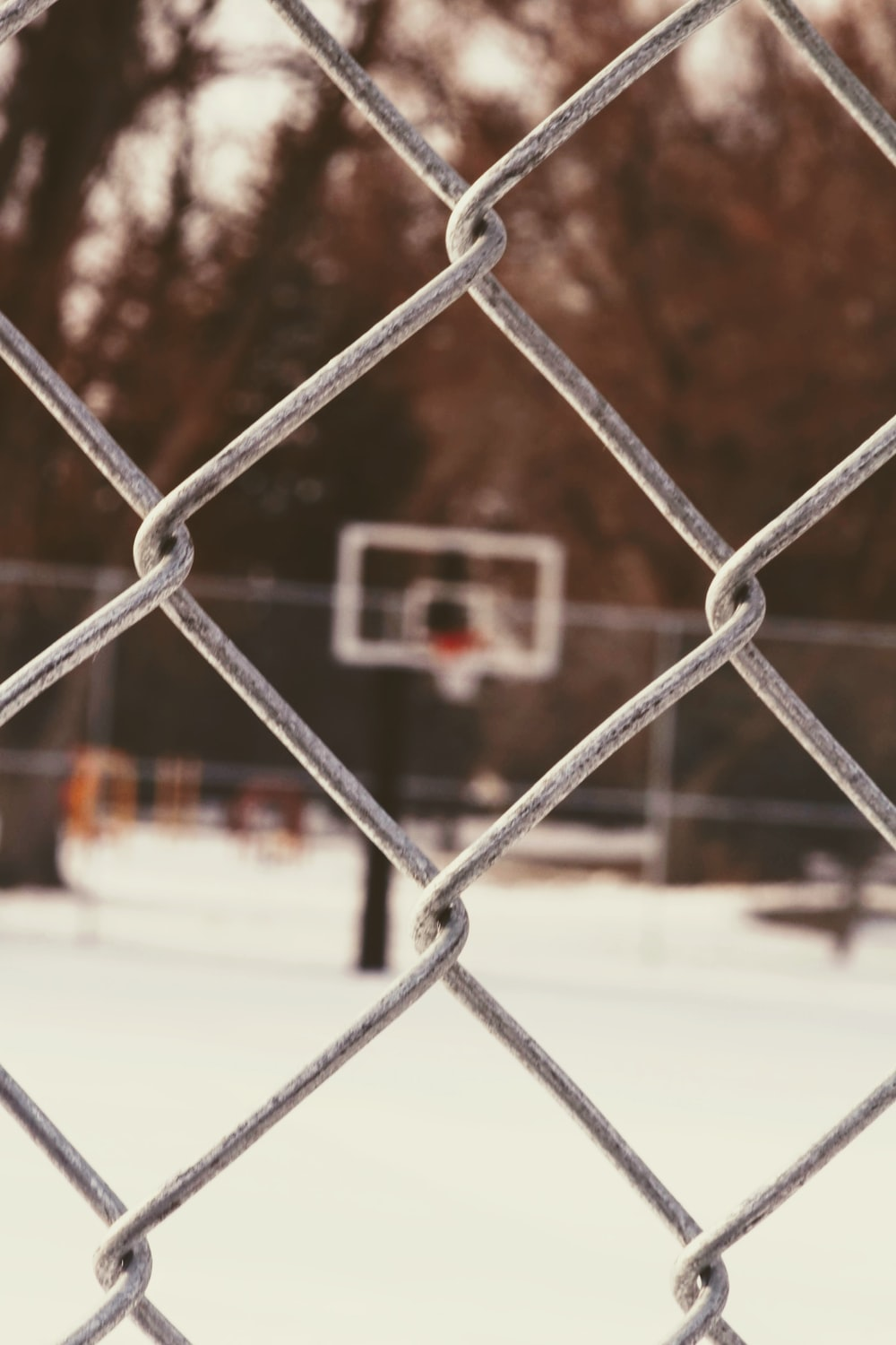 white and black basketball hoop during daytime