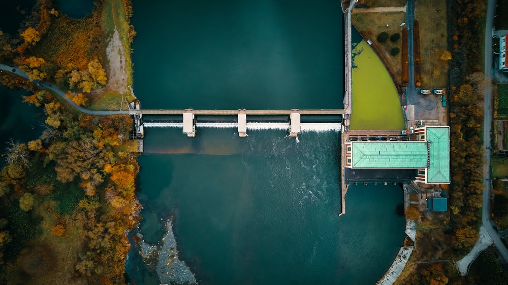 aerial view photography of river