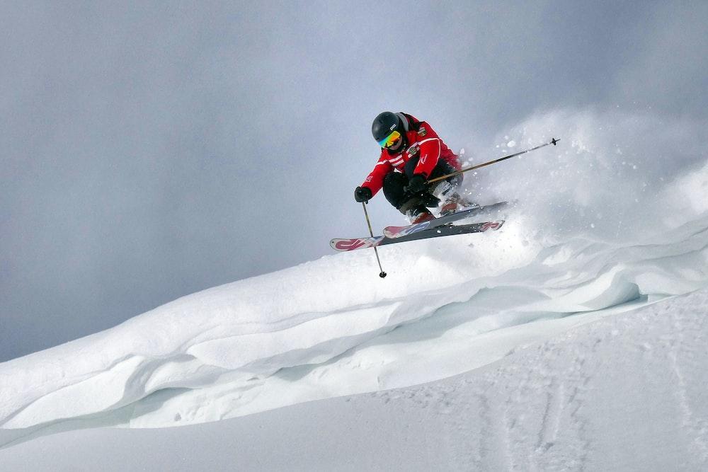 man playing ski during daytime
