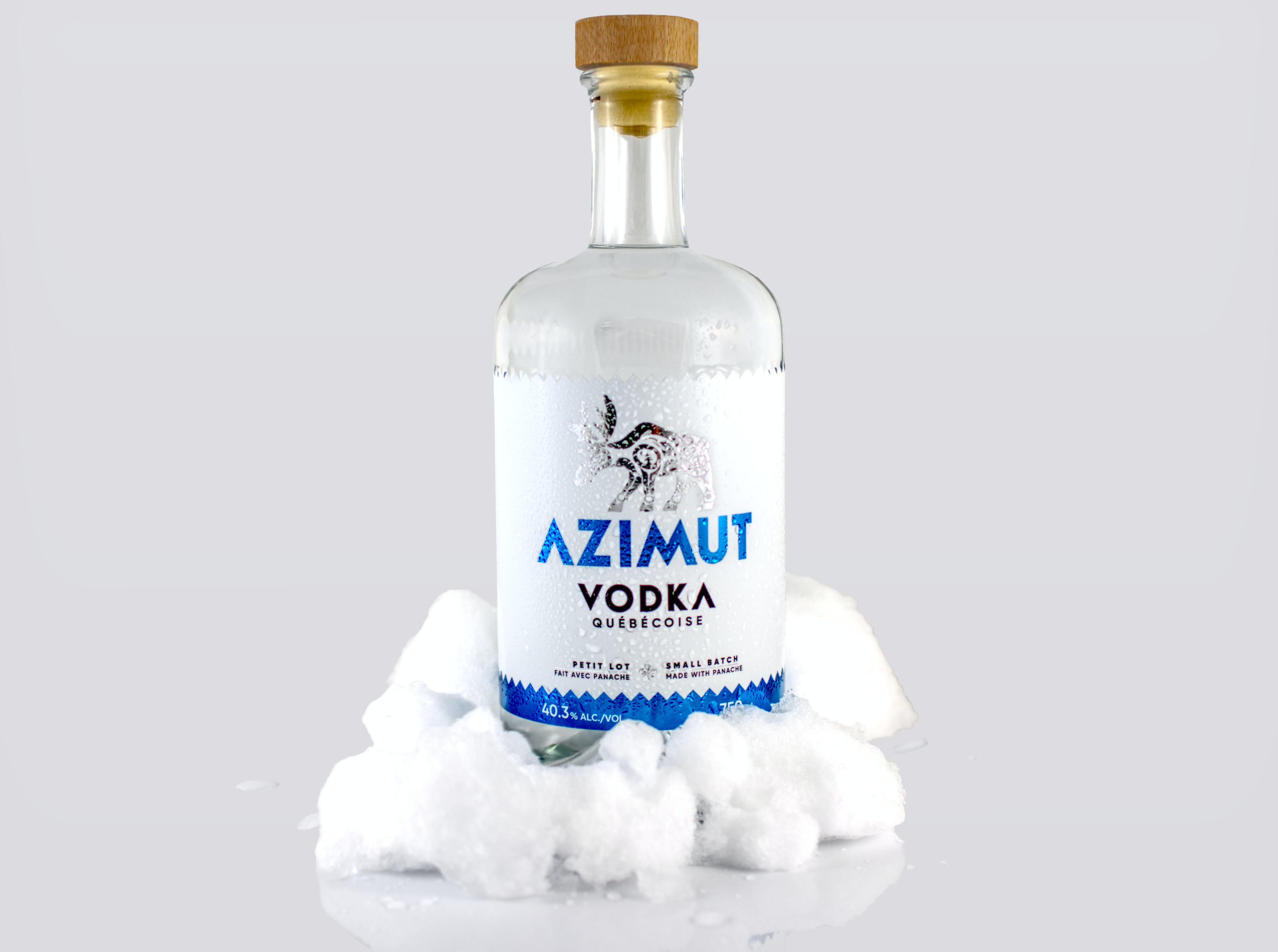 Azimut Vodka bottle