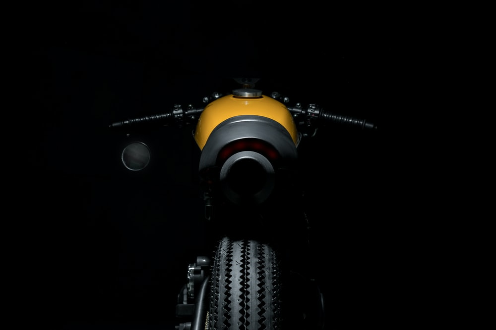 black and yellow motorcycle