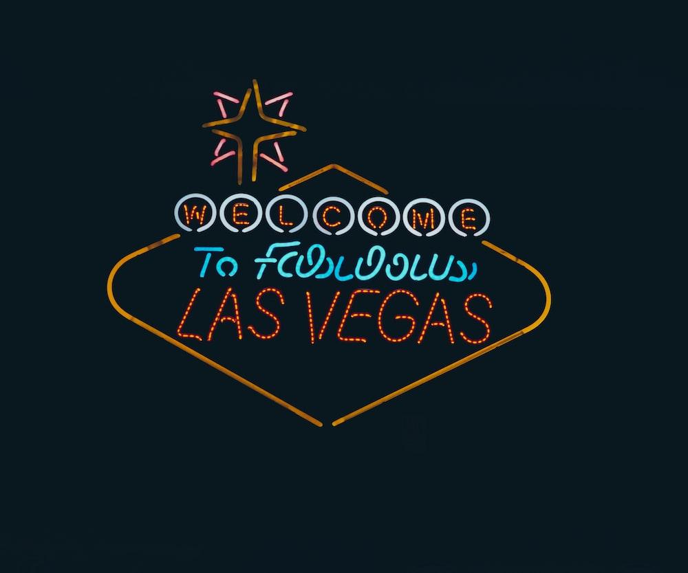 Welcome Las Vegas LED signage