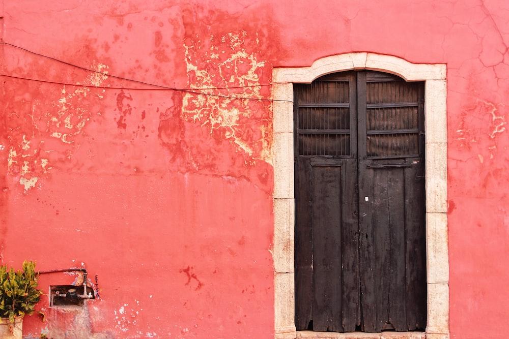 gray side-by-side door