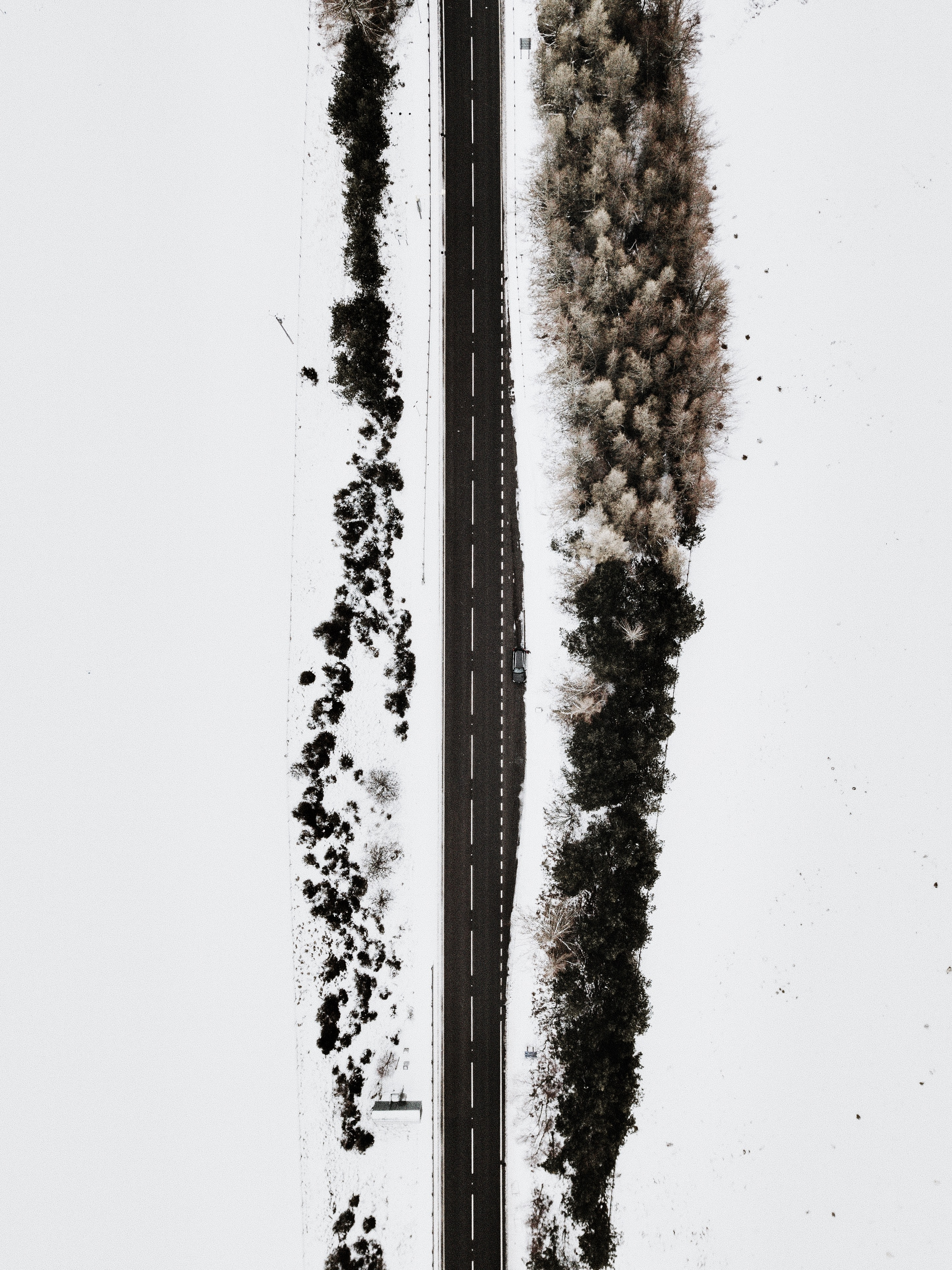 aerial photography of concrete roadway