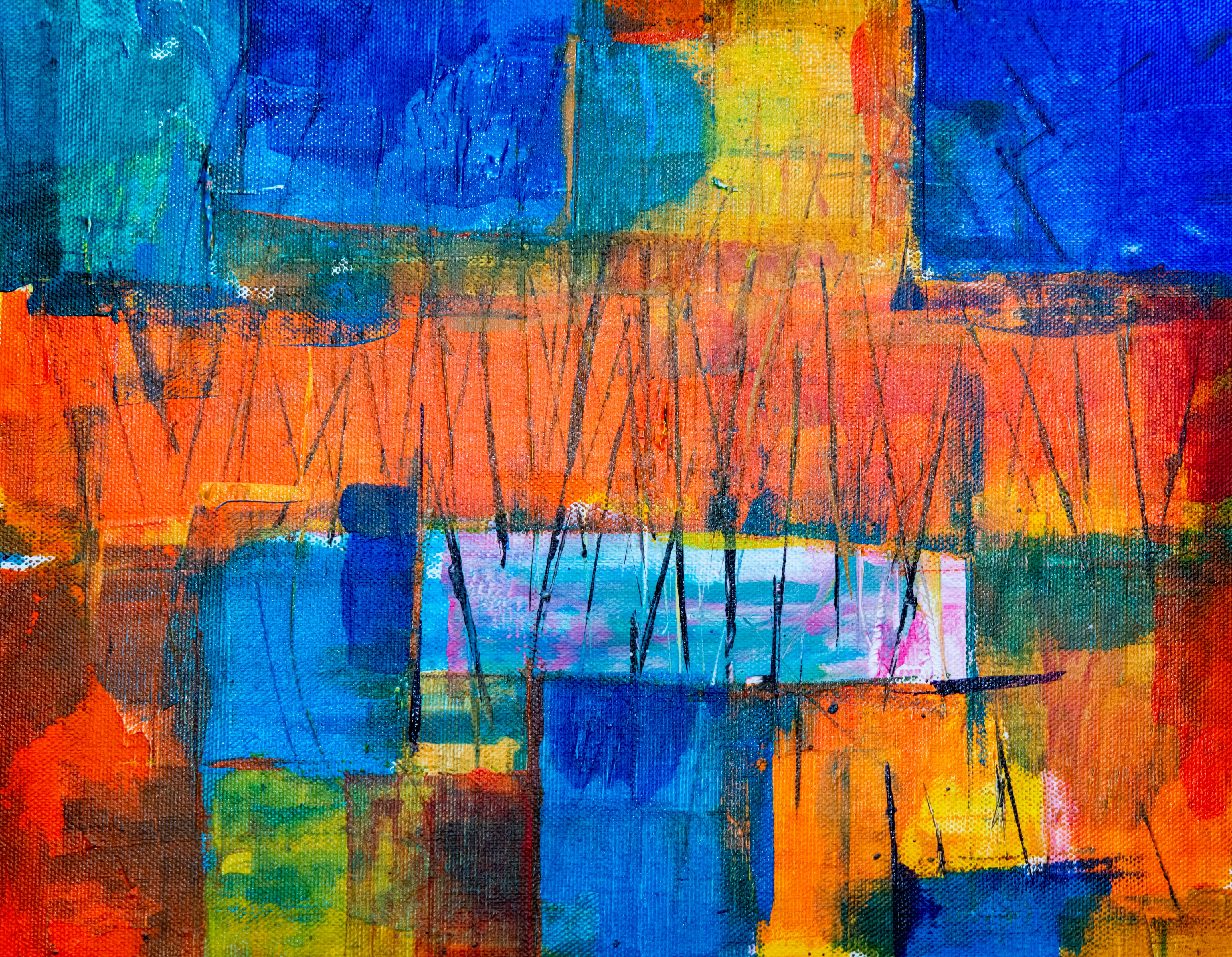 multicolored painting