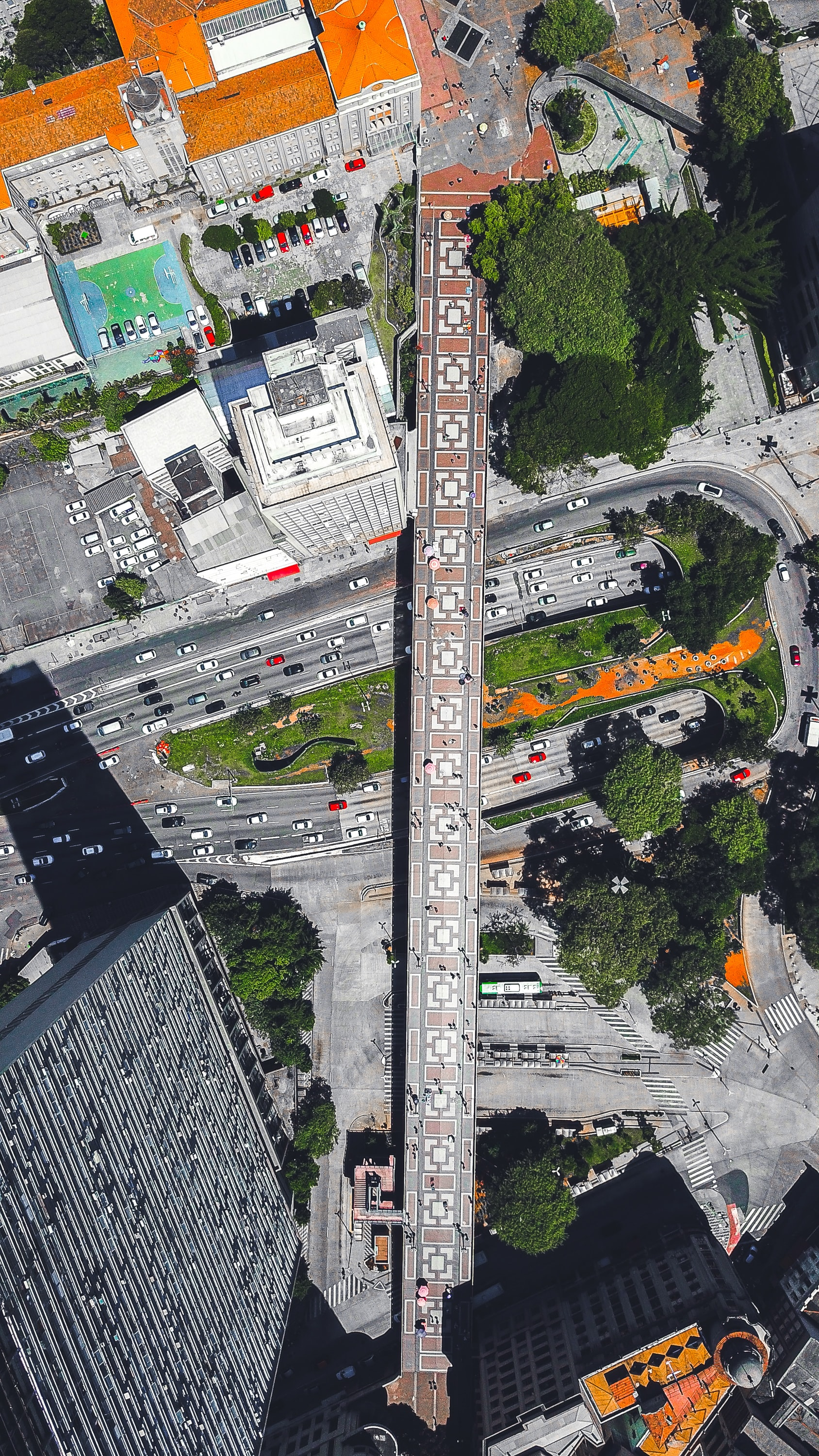 aerial photography of buildings and roads