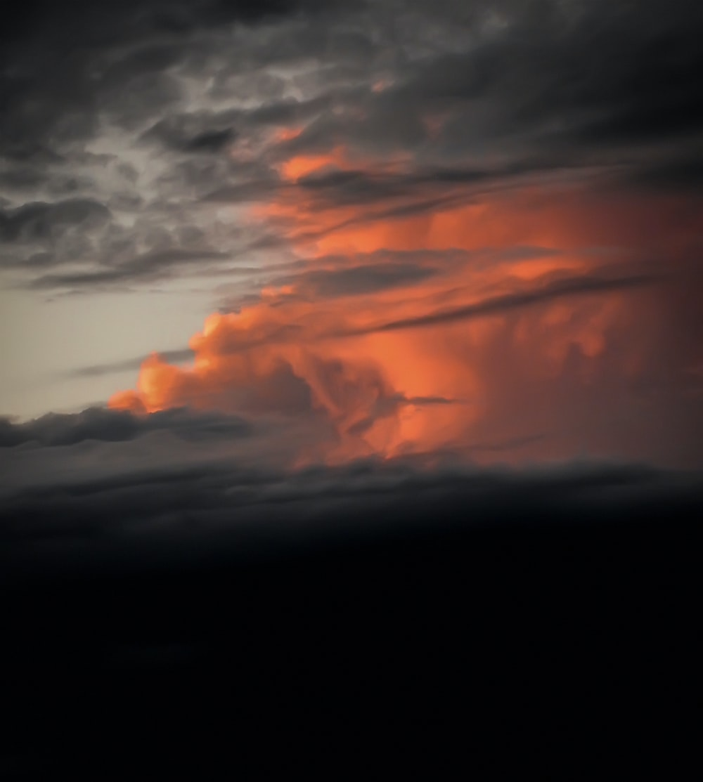 orange and gray clouds
