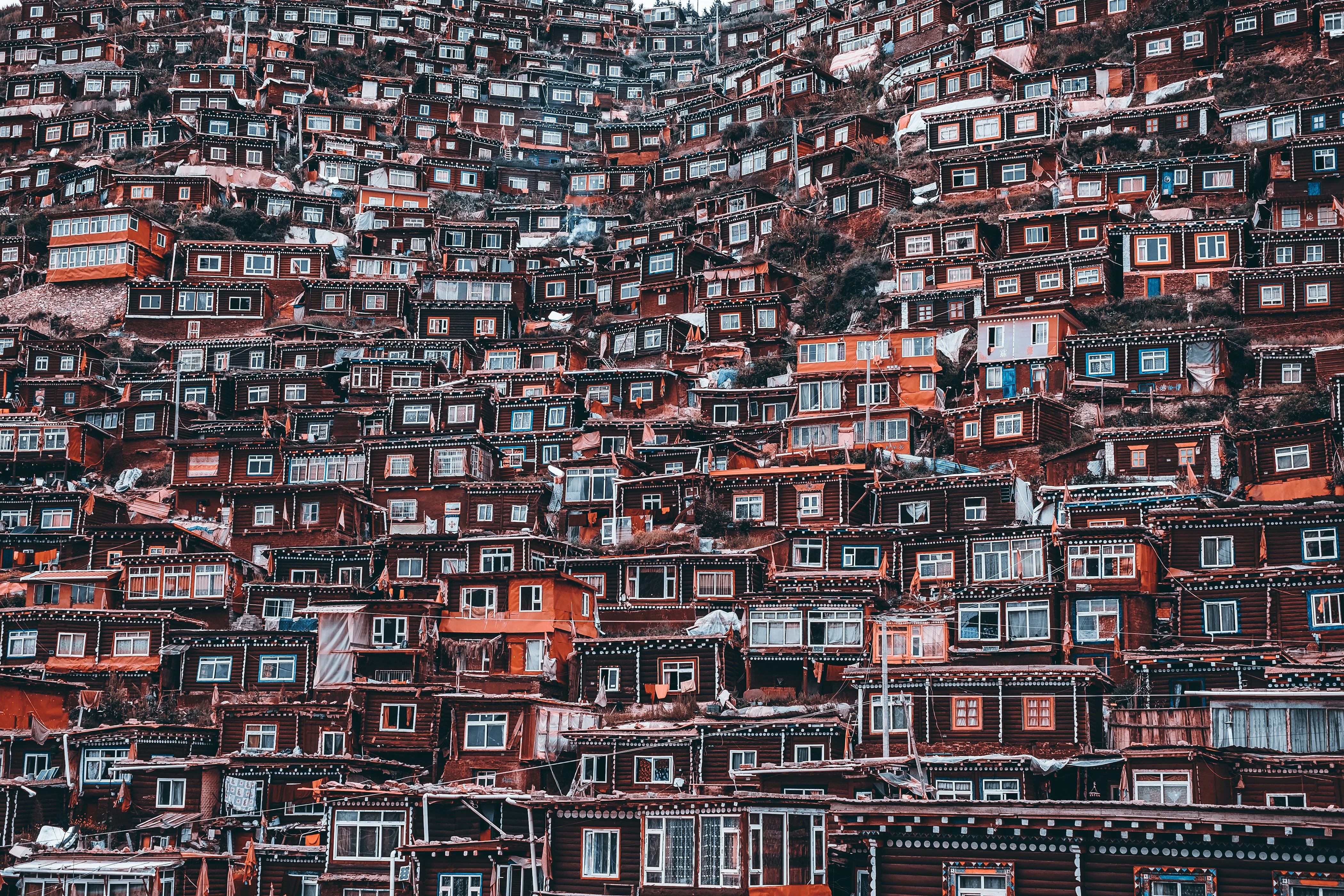 multicolored houses view
