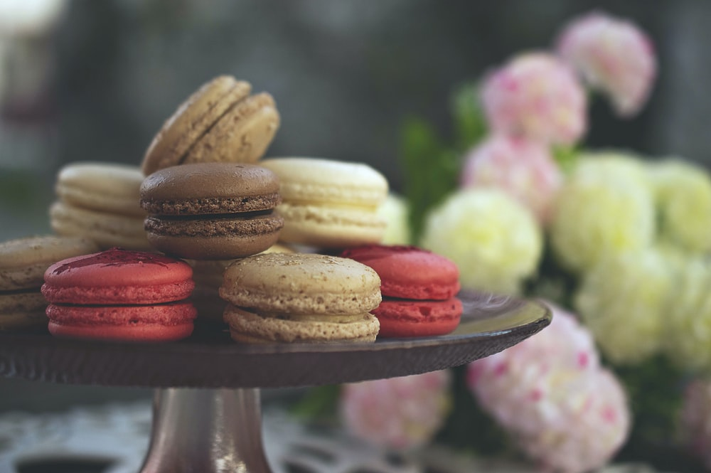 selective focus photography of macaroons