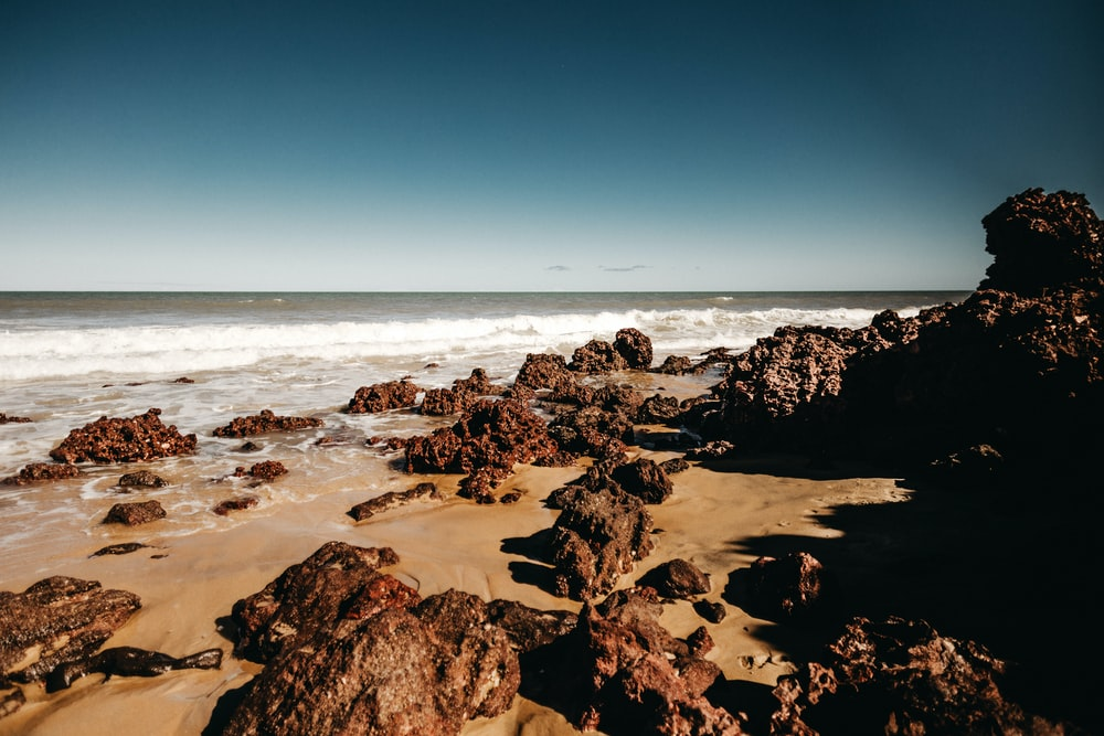 stones on seashore during daytime