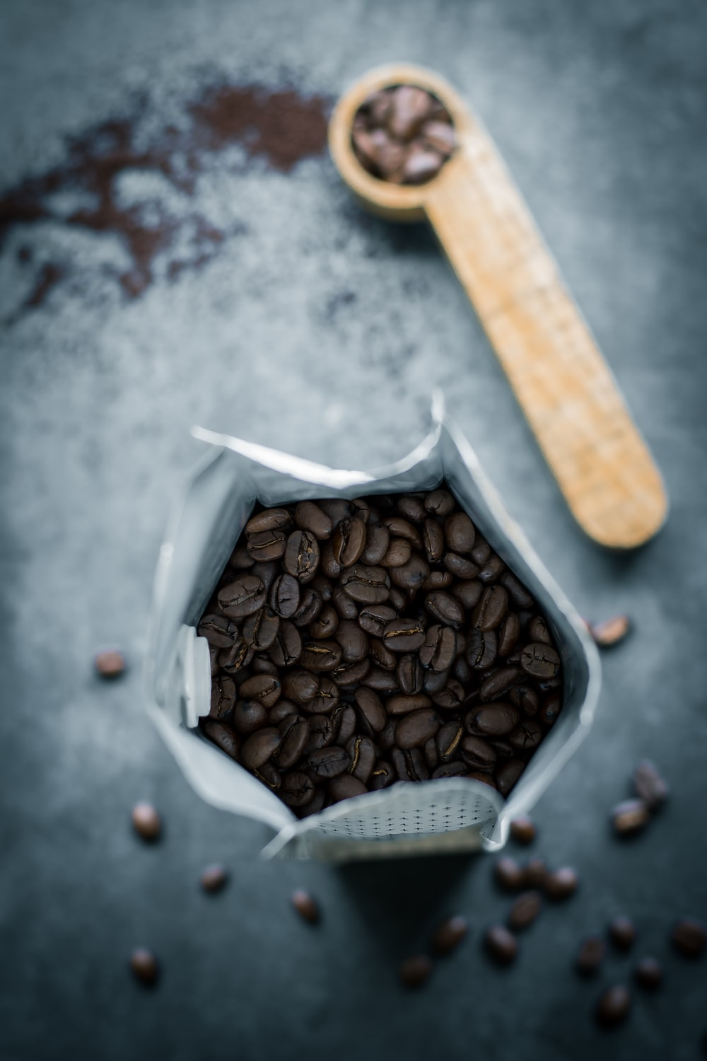selective photography of coffee beans