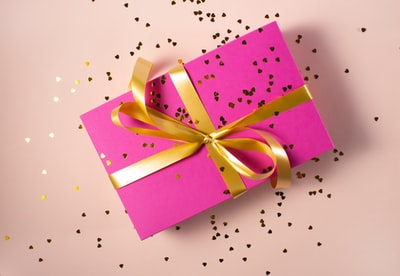 wrapped gift box gift zoom background
