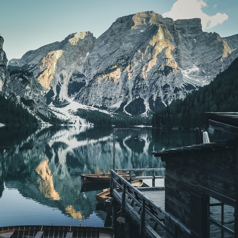 pragser wildsee lake in Italy