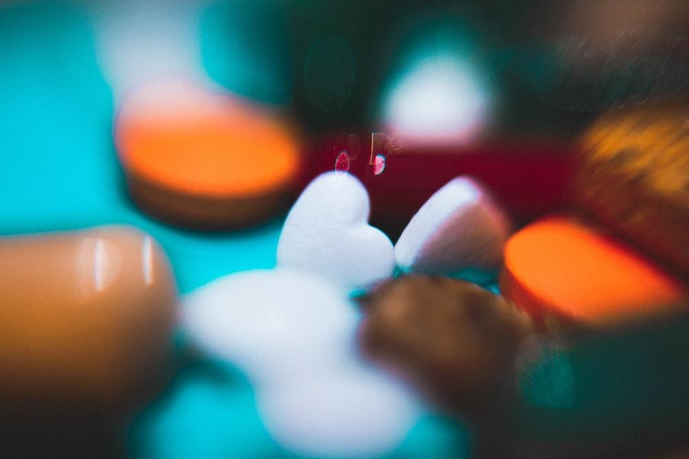 close-up photo of heart-shape stones