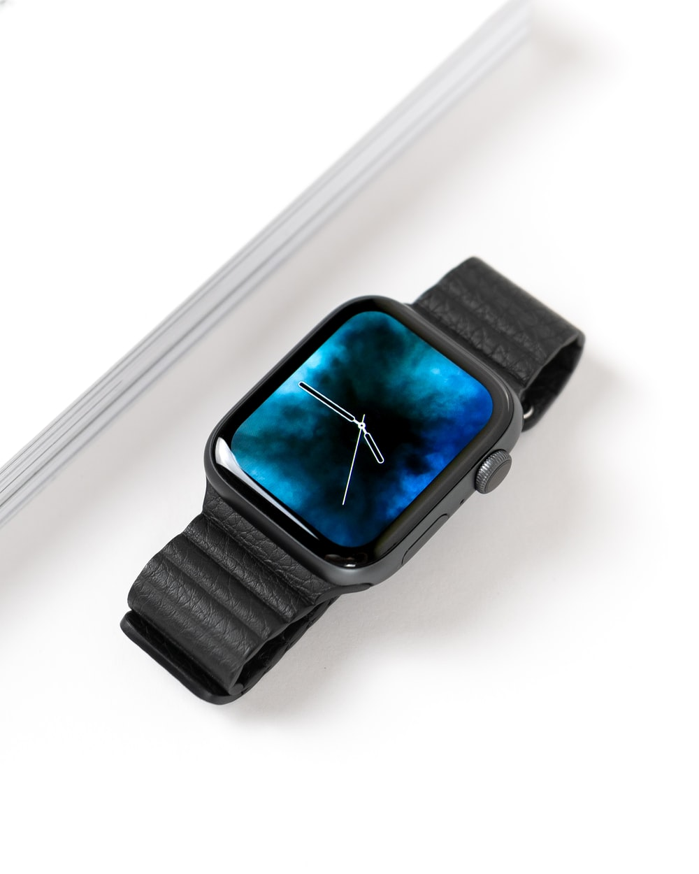 space gray Apple Watch