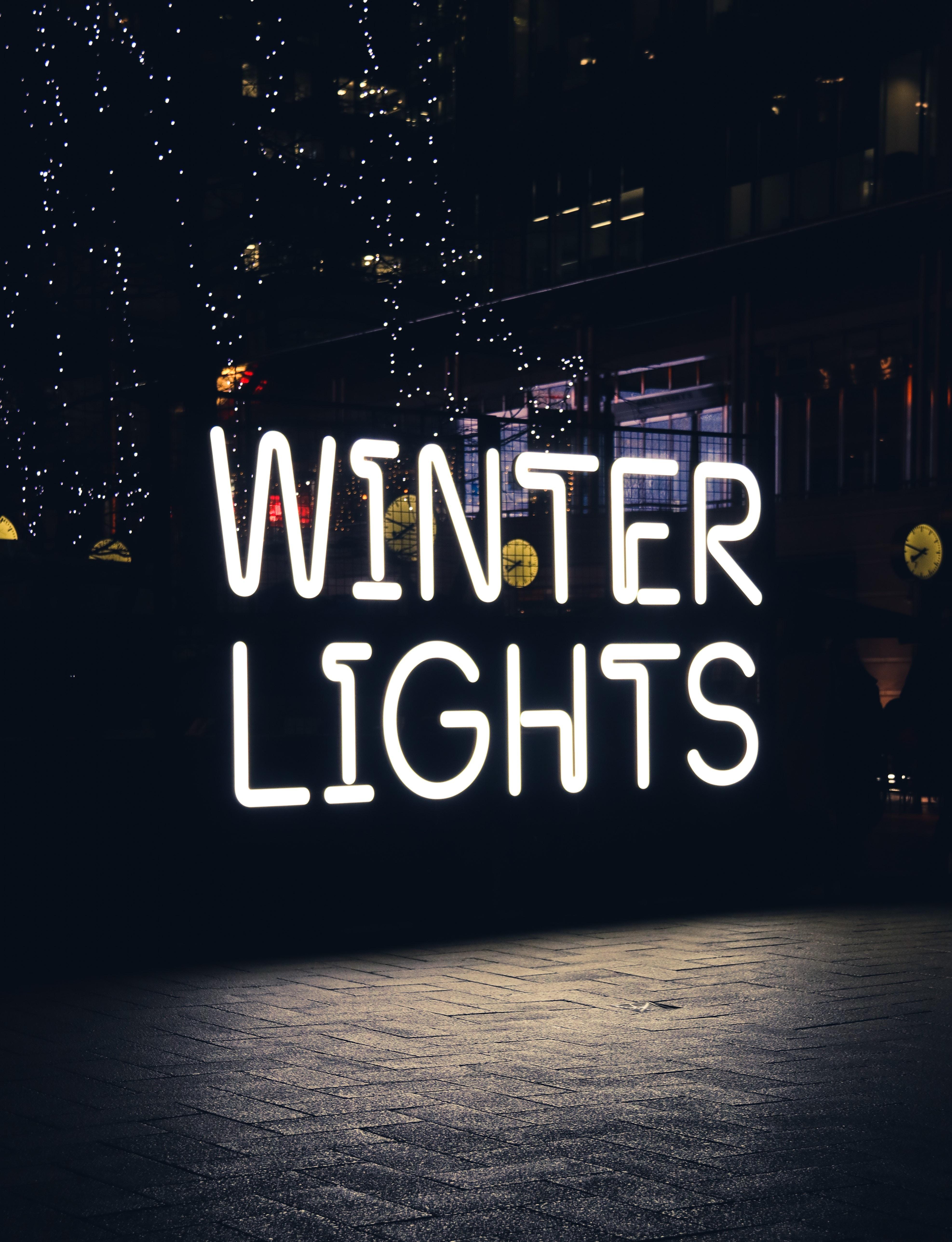 turned-on Winter Light neonlight
