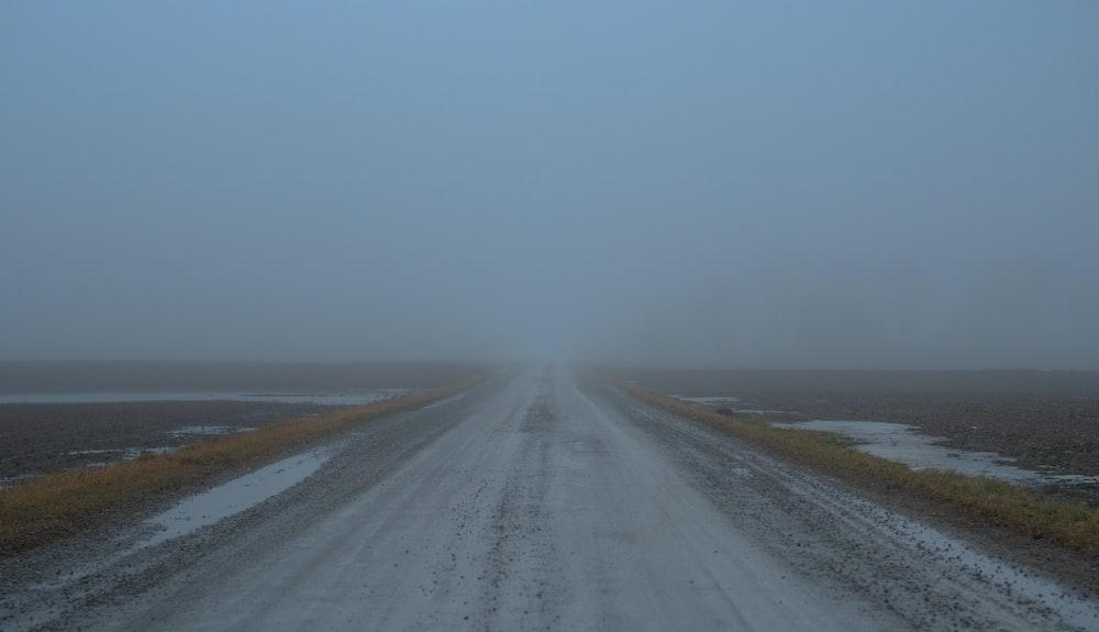 gray road at night