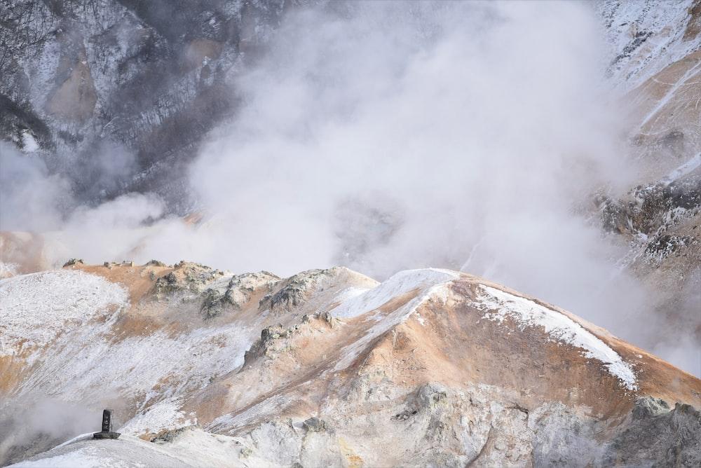 high angle photography of alps mountain