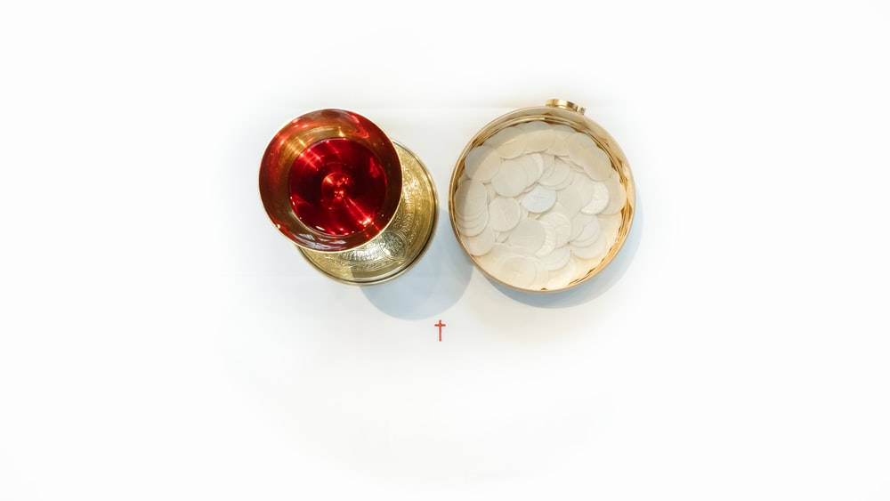 brass-colored church goblet