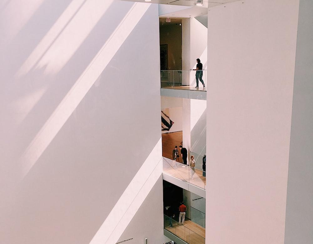 people inside buildings
