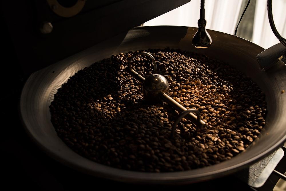 brown nuts on black wok