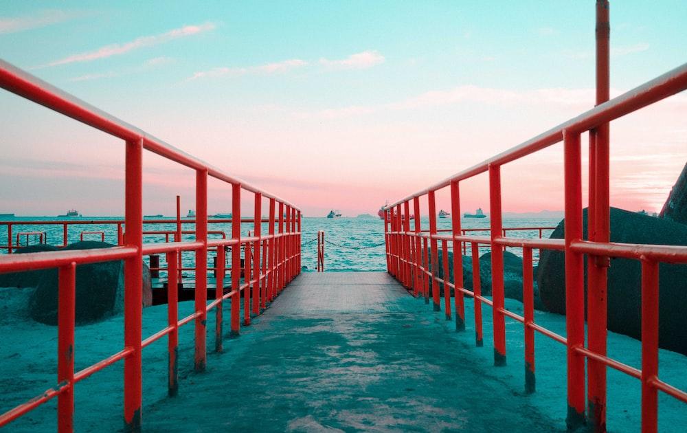 red steel rails